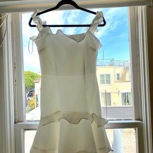 KEEPSAKE the Label Dresses - White ruffle mini dress